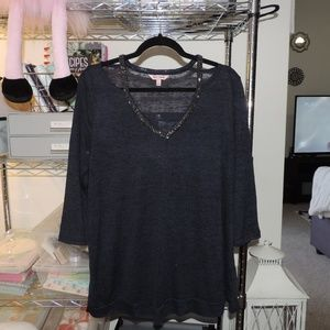Juicy Couture Top with Rhinestone Detail